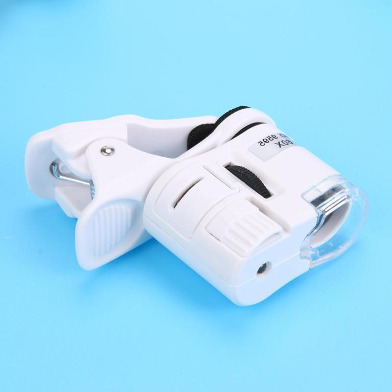 60X Magnifying Glass LED Magnification Micro Camera Clip Optical Magnifier LED