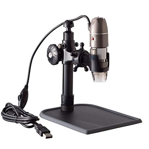 AmScope 500X 2MP USB Zoom 8-LED Microscope with Stand XP/Vista/7/8 &