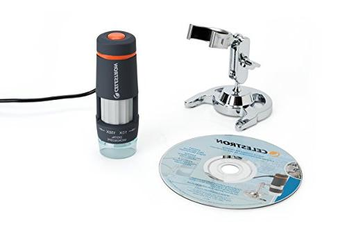 Celestron 44302 Digital Microscope and Stand with 2MP Camera for of and for Bugs and