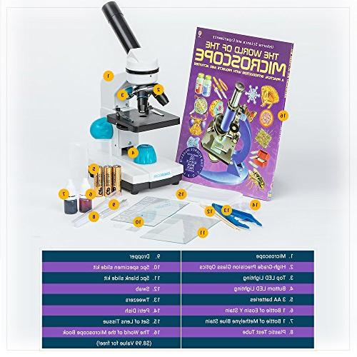 JuniorScope Microscope Kids - 3 - 100x, - Experiments & -