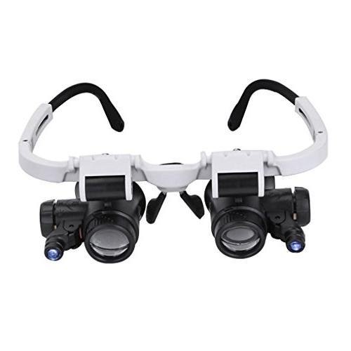 Magnifying 8X 15X 23X Magnifier Headband Glass Tool Watchmaking Currency Errors Biology Loupe Microscope
