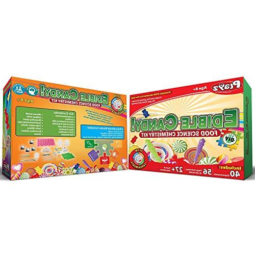 Playz Edible Candy! Food Science STEM Kit Your and Candy for Girls, Ages 9, 11, 12, 13+ Old
