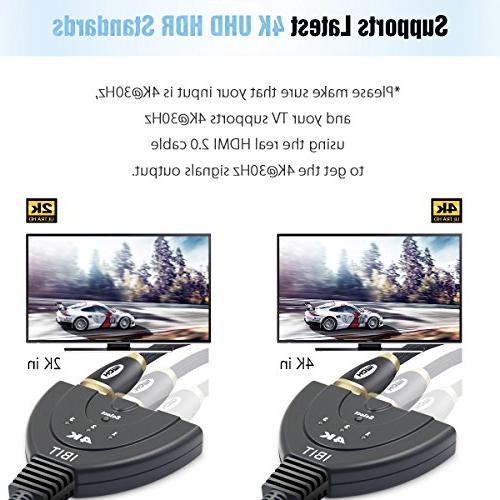 HDMI IBIT Splitter Pigtail Cable x 2K Audio for HDTV Xbox PS3 BluRay DVD Player