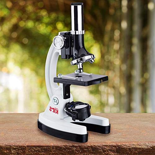 AmScope 1200X Student Microscope with Storage Box and World the