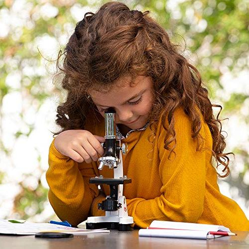 AmScope Kids Student Microscope Kit with Carrying Box World