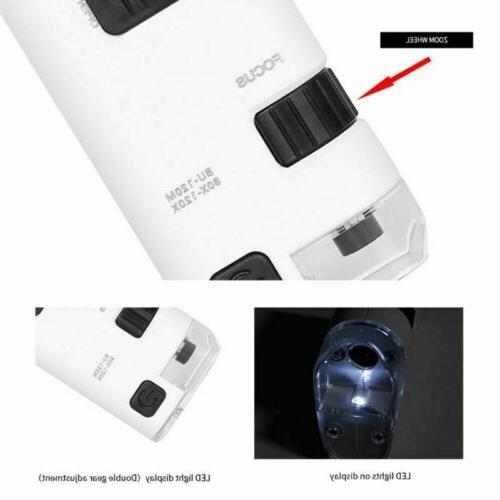 led cell phone microscope magnifier w led