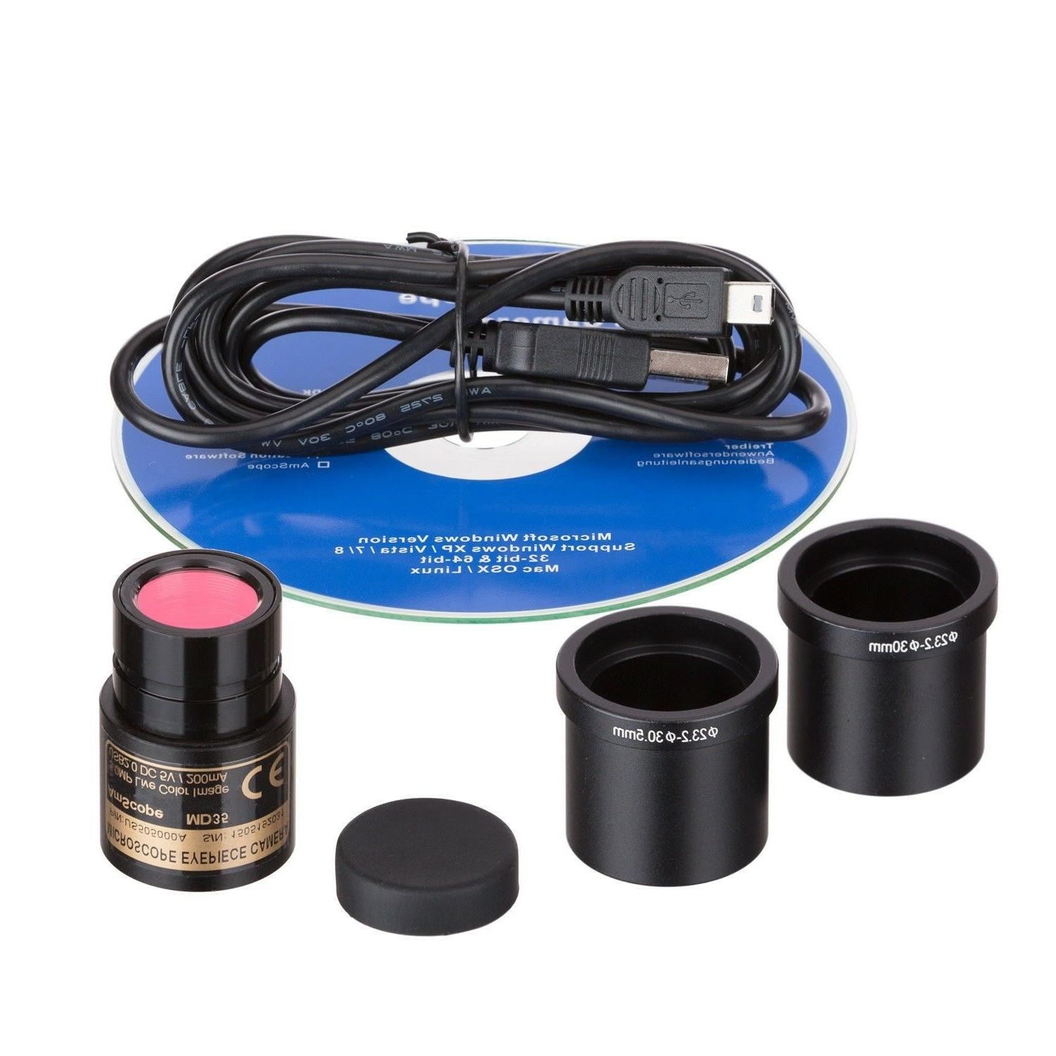 AmScope LED Portable Compound with Camera