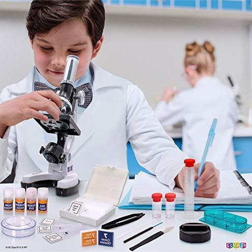 Play22 50 PCS 120X - 1200X Microscope Specimens Student Kit in Box Educational Science Lab Toy Gift –