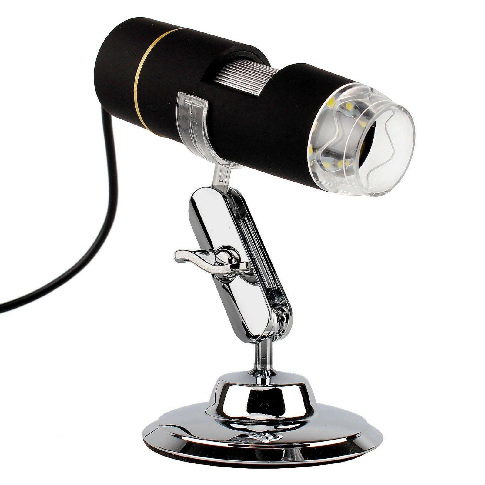 microscopio camara digital usb 8 led 1x