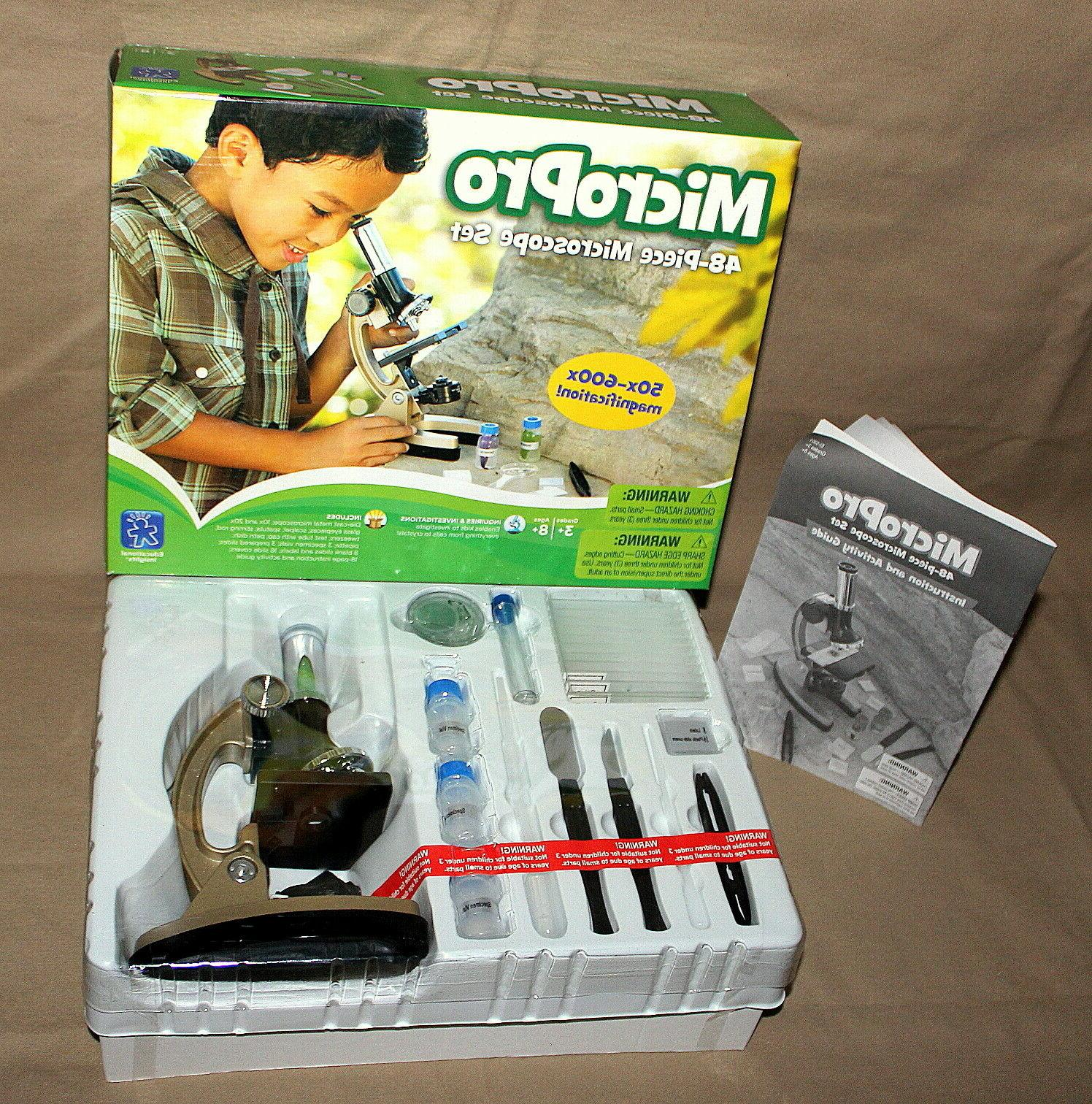 NEW - School Learning Resources MICROPRO 48-PIECE MICROSCOPE