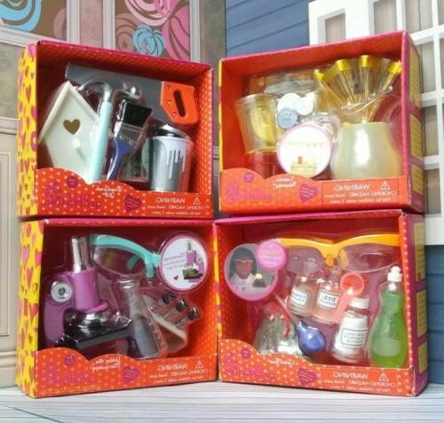 our generation doll accessories lot microscope lab