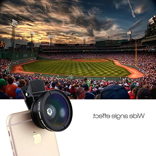 SOCIALITE Professional HD Photo Video On Kit for 8 X Plus Phone 0.45x Super Wide Lens 12.5x