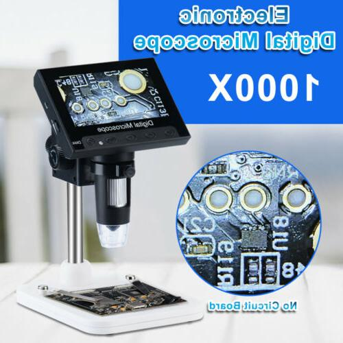 Adjustable LCD Monitor Microscope LED Magnifier