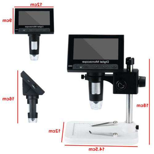 """4.3"""" Electronic Microscope 8 LED Magnifier"""