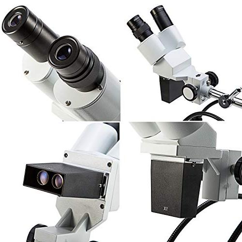 SWIFT S41-20 Dissecting Binocular Microscope, WF20x Eyepieces, Magnification, 1X Lighting, Boom-Arm Stand