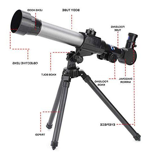 Telescope for Kids Astronomy Beginners - Astronomical Telescope with 360° Rotation Super Lightweight Tripod Portable Refractor for