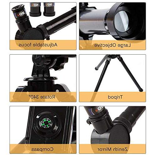 Telescope Kids and Astronomy Beginners TEEPAO Astronomical HD with 360° & Super Lightweight for Travel