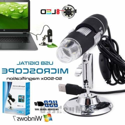 usb digital microscope endoscope 1000x 2mp 8led