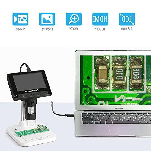 Koolertron 4.3 Color LCD Zoom,8 LED Adjustable Lithium Battery,Micro-SD Storage,Camera Recorder