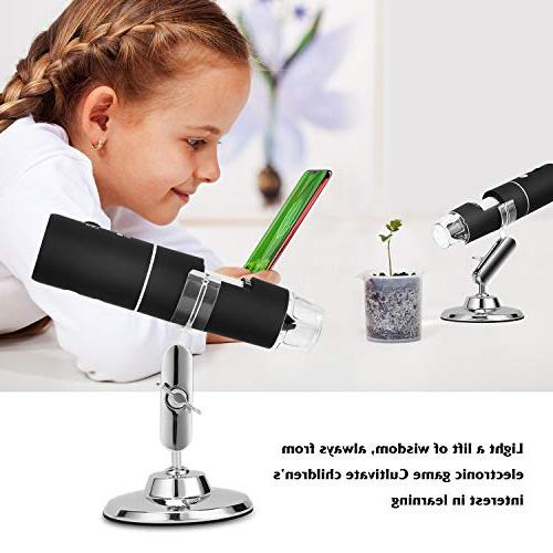 WiFi USB TSAAGAN Built in WiFi Digital Microscope 1080P to Magnification Endoscope for Android, Tablet, iPad, PC