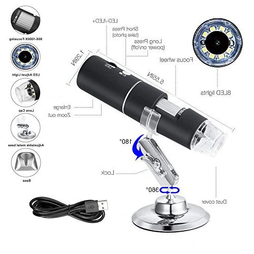 WiFi USB HD 2MP 50x to Mini Wireless Endoscope with for iPhone/iPad/Android Phone/Windows/Mac