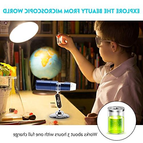 Wireless Microscope, 50x to 1000x Microscope Magnification 2MP Camera, Mini Pocket Handheld Light Compatible Android,