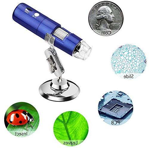 50x to 1000x Magnification with 2MP Camera, Pocket Handheld Microscope Light Compatible for iPhone Android,