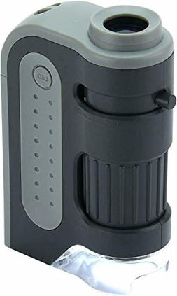 Lighted Pocket Microscope Carson MicroBrite Plus 60x-120x Po