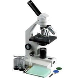 AmScope 40X-2000X Compound Vet Microscope + USB Camera