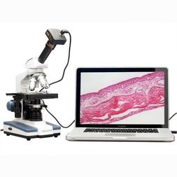 AmScope M620B-P Digital Compound Monocular Microscope, WF10x