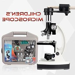 Microscope Kit for Beginners and Kids with Metal Arm and Bas