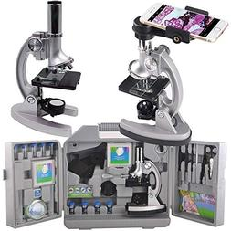 Gosky Microscope Kit for Kids and Beginners with Metal Arm a