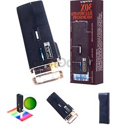 Lumagny MP7513 30X Illuminated Pocket Microscope