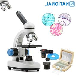 National 40X-1000X Microscope Student Biological Compound Ca