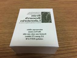 NEW Brain Research Lab Microscope Slides 3875-FR Frosted 38x