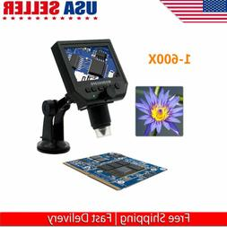 "New Portable LCD Digital Microscope 4.3"" HD OLED 3.6MP 1-600"
