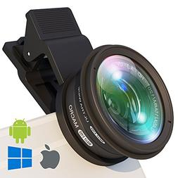 Phone Camera Lens Attachment: Professional Wide Angle and Ma