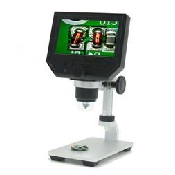 "Portable 1080P Digital Microscope 4.3"" HD OLED 3.6MP 1-600X"