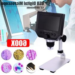 """Portable 4.3"""" 1080P HD OLED 3.6MP 1-600X Magnifier LCD Digit"""