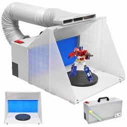 Portable Hobby Airbrush Paint Spray Booth Kit Exhaust Filter