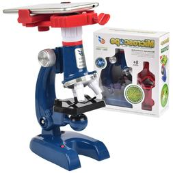 Science Kits for Kids Beginner Microscope with LED 100X 400X