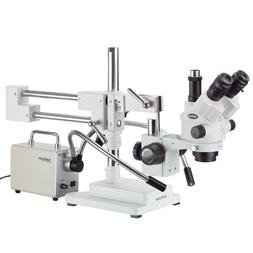 7X-45X Simul-Focal Stereo Zoom Microscope on Dual Arm Boom S