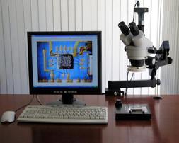 AmScope 3.5-90x Articulating Stereo Zoom Microscope + 1.3MP