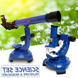 Telescope Microscope Kit Science Nature Educational Astronom