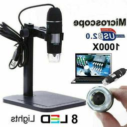USB Digital1000X Microscope For Electronic Accessories+Base