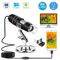USB Microscope 8 LED USB 2.0 Digital Microscope, 40 to 1000x