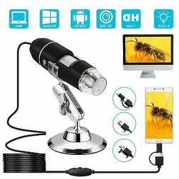 USB Microscope,VSATEN 3 in 1 Digital Microscope 50 to 1000x