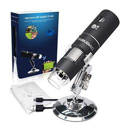 WiFi Microscope Camera,Portable USB Digital Kids Microscope