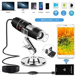WiFi USB Microscope 1000x Digital Handheld Microscope WiFi E